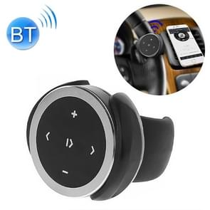 Car Wireless Bluetooth Controller Mobile Phone Multimedia Multi-functional Steering Wheel Remote Controller with Holder (Silver)