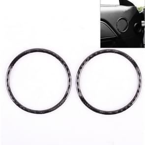 2 PCS Car Door Horn Trim Ring Decorative Sticker for Ford Mustang