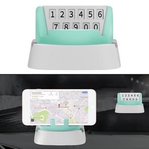 Multi-functionele creatieve stereo rotatie tijdelijke parkeer nummerplaat/auto mobiele-telefoon houder (groen)