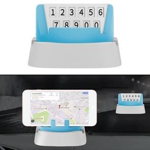 Multi-functionele creatieve stereo rotatie tijdelijke parkeer nummerplaat/auto mobiele-telefoon houder (blauw)