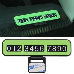 Creative Temporary Parking Card Car Sticker(Green)