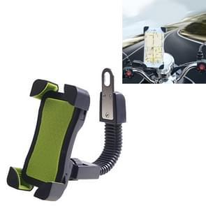Universele 360 graden vrije rotatie ABS motorfiets beugel Mountain Bike navigatie beugel GPS/mobiele telefoonhouder voor 3.5-6 5-inch mobiele Phone(Green)