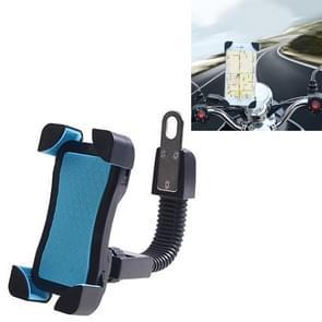 Universele 360 graden vrije rotatie ABS motorfiets beugel Mountain Bike navigatie beugel GPS/mobiele telefoonhouder voor 3.5-6 5-inch mobiele Phone(Blue)