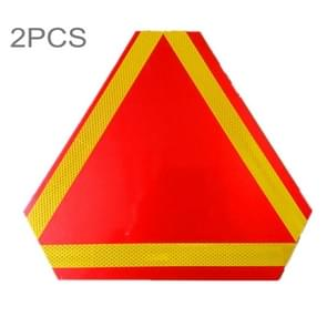 2 PCS Rear Truck Trailer Triangle Reflector Safty Warning Aluminum Board, Thickness: 1mm