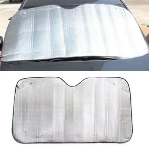 Silver Aluminum Foil Sun Shade Car Windshield Visor Cover Block Front Window Sunshade UV Protect, Size: 130 x 60cm