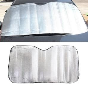 Silver Aluminum Foil Sun Shade Car Windshield Visor Cover Block Front Window Sunshade UV Protect, Size: 150 x 80cm