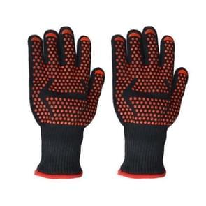 Een paar pijl toedieningseenheden patroon lange silicagel katoen magnetron wanten bescherming handschoenen warmte isolatie keuken koken bakken BBQ-handschoenen beschermende handschoen  lengte: 32cm