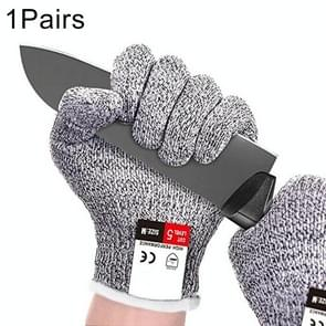 A Pair Cut Resistant Gloves Gardening Gloves HPPE Level 5 Resistance to Cutting Gloves Anti Abrasion Safety Working Gloves Level 5 Anti-Abrasion Gloves, Size: S, Length: 20cm