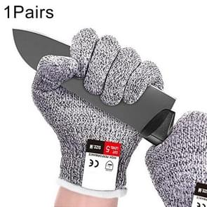 A Pair Cut Resistant Gloves Gardening Gloves HPPE Level 5 Resistance to Cutting Gloves Anti Abrasion Safety Working Gloves Level 5 Anti-Abrasion Gloves, Size: M, Length: 22cm