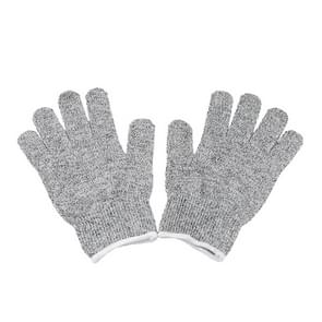 A Pair Cut Resistant Gloves Gardening Gloves HPPE Level 5 Resistance to Cutting Gloves Anti Abrasion Safety Working Gloves Level 5 Anti-Abrasion Gloves, Size: XL, Length: 26cm