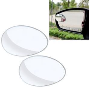 3R-055 2 PC's Auto Truck ovale Dodehoek groothoek spiegel Dodehoek spiegel 360 graden verstelbaar groothoek achteruitkijkspiegel  grootte: 6.7 * 4.5 cm