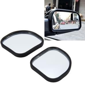 3R-065 2 PC's Auto Truck Dodehoek achterzijde uitzicht groothoek spiegel Dodehoek spiegel blinde vlek en Deco spiegel  grootte: 5.5 * 5 cm