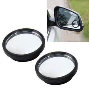 3R-061 2 PC's auto vrachtwagen Dodehoek achterzijde uitzicht groothoek spiegel Dodehoek spiegel blinde vlek en ronde spiegel  grootte: 3.8 * 3 8 cm
