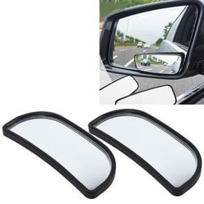3R-066 2 PC's Auto Truck Dodehoek achterzijde uitzicht groothoek spiegel Dodehoek spiegel blinde vlek en brede spiegel  formaat: 8.3 * 3.4 cm