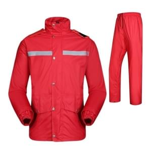 Durable Reflective Motorcycle Split Raincoat Pants Riding Bicycle Electric Bike Windproof Waterproof Rain Wear for Adult, Size: 2XL(Red)