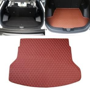 Car Trunk Mat Rear Box Lingge Mat for Nissan X-Trail 2014 (Red)