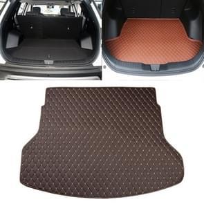 Car Trunk Mat Rear Box Lingge Mat for Nissan X-Trail 2014 (Dark Brown)