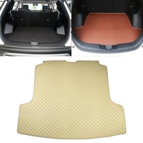 Car Trunk Mat Rear Box Carbon Fiber Mat for Nissan Teana 2019(Beige)