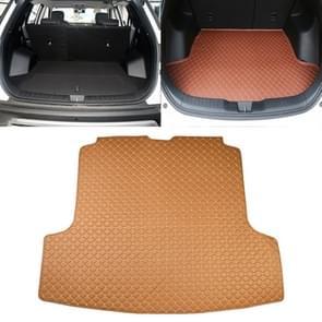 Car Trunk Mat Rear Box Carbon Fiber Mat for Nissan Teana 2019(Light Brown)