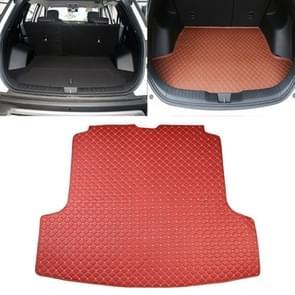 Car Trunk Mat Rear Box Carbon Fiber Mat for Nissan Teana 2019(Red)