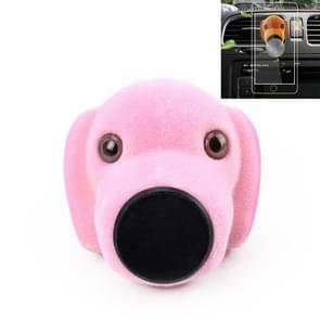 Car Cartoon Diffuser Air Freshener Perfume Vent Clip Styling Magnetic Support Phone Holder (Pink)