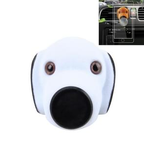 Car Cartoon Diffuser Air Freshener Perfume Vent Clip Styling Magnetic Support Phone Holder (White)