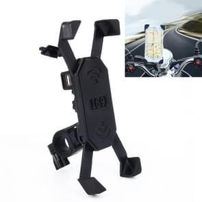 Motor Fiets Stuur 5V 2.4A USB-lader verstelbare hoekhouder voor 3 5-6 inch telefoon  GPS