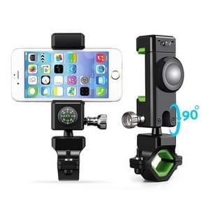 Motorfiets fiets Stuur telefoon Mount houder wieg met kompas  LED-verlichting  voor iPhone X/8/7/6/6s Plus  Android Samsung Galaxy S6/S7  GPS en andere Smartphone