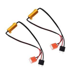 2 stuks H7 50W 6 ohm load weerstand auto CANbus error Canceller decoder kabel