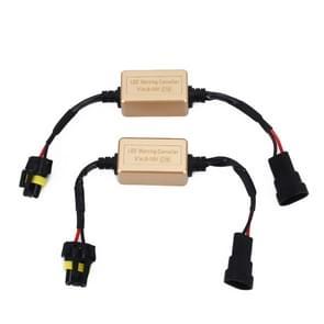 2 stuks 9005 9006 9012 LED koplamp CANbus foutvrije computer waarschuwing Canceller weerstand decoders anti-flikkering condensator harnas
