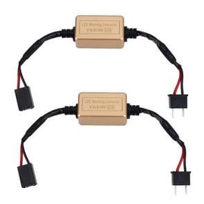 2 stuks H7 LED koplamp CANbus foutvrije computer waarschuwing Canceller weerstand decoders anti-flikkering condensator harnas