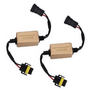 2 stuks H8 H9 H11 LED koplamp CANbus foutvrije computer waarschuwing Canceller weerstand decoders anti-flikkering condensator harnas