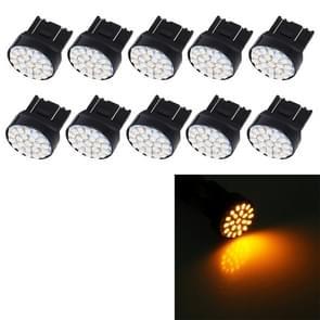 10 stuks T20/7443 auto auto lamp 1.2 W 22-SMD 1206 LED-lampen remlicht