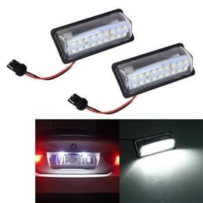 2 stks LED nummerplaat licht 18-SMD bollen lampen voor Nissan/Teana 03/Tada 03-08/Sylphy 2008/Sunny 2001-2006  2W 120LM  6000K  DC12V (wit licht)