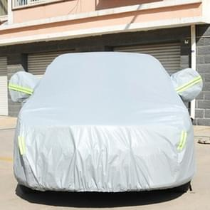 PVC Anti-Dust Sunproof Sedan Car Cover with Warning Strips, Fits Cars up to 5.1m(199 inch) in Length
