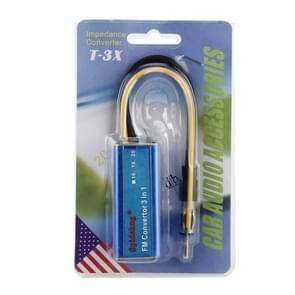 DC 12V 16MHz auto Auto auto blauw aluminium MP3 FM Converter Adapter impedantie Converter T-3 X Audio Auto-accessoires