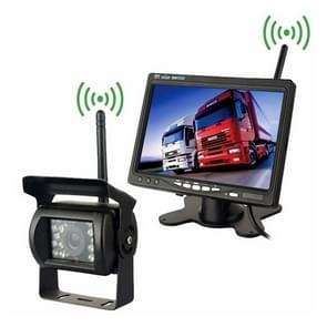 PZ607-W Wireless Vehicle Truck Backup Camera and Monitor Infrared Night Vision Rear View Camera with 7 inch HD Monitor for RV Trailer