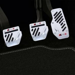 CS-321 3 in 1 Non-Slip Manual Car Truck Pedals Foot Brake Pad Cover Set (Black)