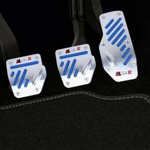 CS-321 3 in 1 antislip handmatige auto truck pedalen voetrem pad cover set (blauw)