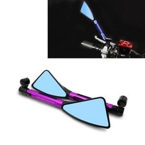 2 stk motorfiets onderdelen CNC technologie aluminiumlegering Rearview spiegel Side Mirror (paars)