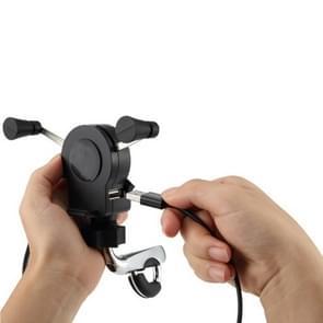 Universele motorfiets USB telefoonlader met 360 graden draaibare houder  geschikt voor 4 5-6 inch Smartphones