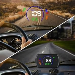 S600 Multifunctionele HUD 5 8 inch OBD2 Voorruit projector Head-up Display  Snelheid & RPM & Watertemperatuur & Olieverbruik & Rijafstand / Time & Voltage Display  Over Speed Alarm