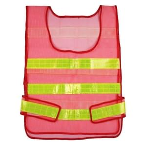 Reflective Fluorescent Vest Safty Cloth Driving School Construction Traffic Safty Warning Working Cloth(Red)