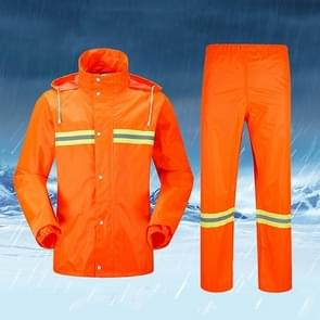 Adult Split Reflective Raincoats Rain Pants Cleaners Waterproof Clothes Labor Insurance Safety Sanitation Suits, Size: M