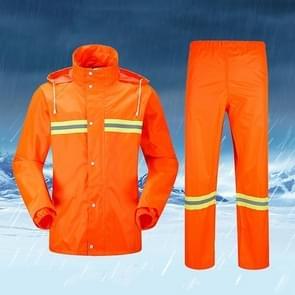 Adult Split Reflective Raincoats Rain Pants Cleaners Waterproof Clothes Labor Insurance Safety Sanitation Suits, Size: L