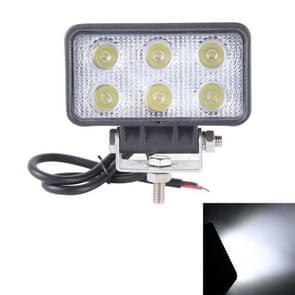 hou van mijn leven-1518 18W 1260-1350LM Epistar 6 LED wit 60 graad Flood Beam auto LED licht waterdichte IP67  DC 10-30V(White Light)