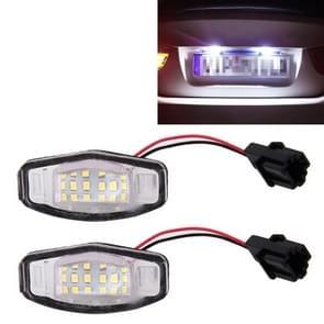 2 stuks DC 12V 2W 120LM 6000K LED-nummerplaat licht 18-SMD lampen lampen voor Honda Civic VII4/5D 01-05  VIII 06-17  City 4D 03-09  Lengend 99-04