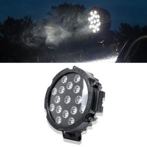 51W 3500LM 6500K wit licht 17 LED waterdichte auto boot Marine werklichten Spotlight LED-lampen  30 graden verstelbaar  DC 10-30V (zwart)