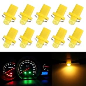 10 PCS 0.4W B8.5 Wedge Instrument Panel COB LED Light Dashboard Gauge Cluster Indicator Lamp Bulb (Amber)