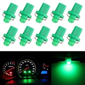 10 PCS 0.4W B8.5 Wedge Instrument Panel COB LED Light Dashboard Gauge Cluster Indicator Lamp Bulb (Green Light)